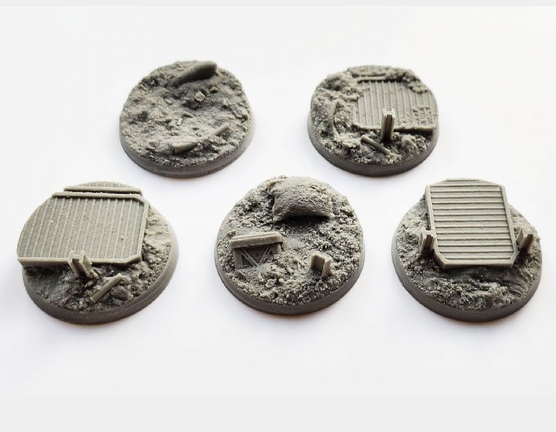 40mm Trench Warfare Bases Set 1 (5)